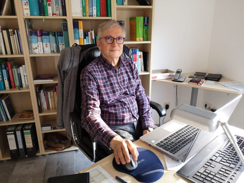 Wolfgang Scharwächter im Webinarraum